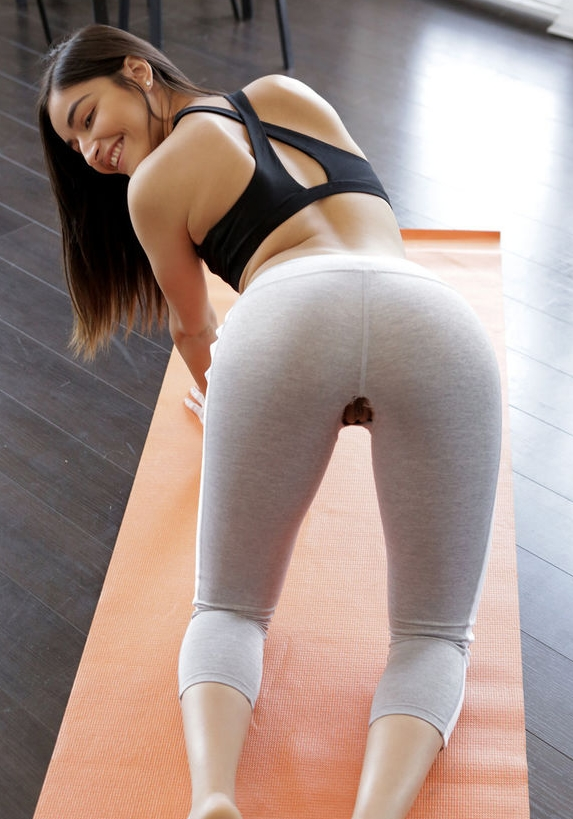 Une sportive en leggings